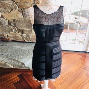 Cache black sheath dress